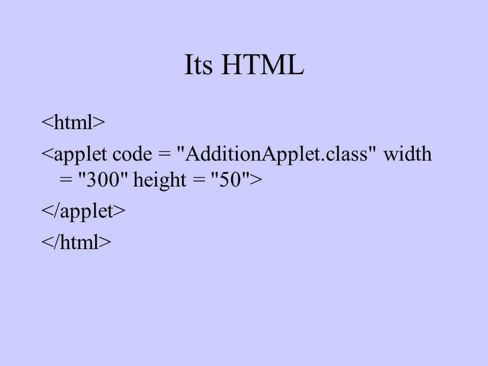 Its HTML