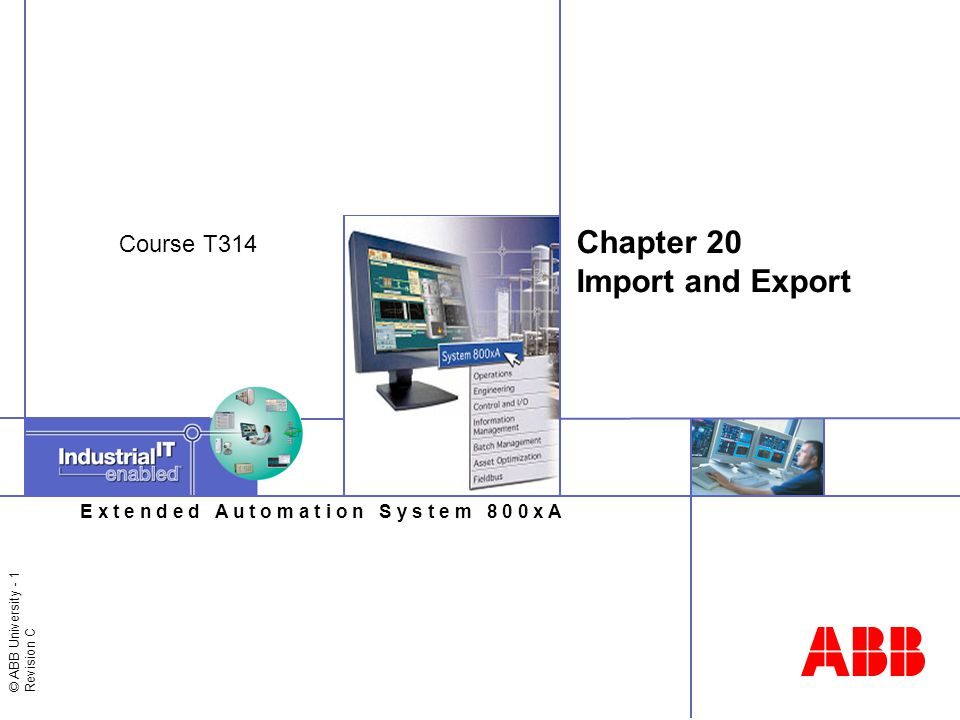 © ABB University - 12 Revision C Importing Data / Open afw File Import / Export