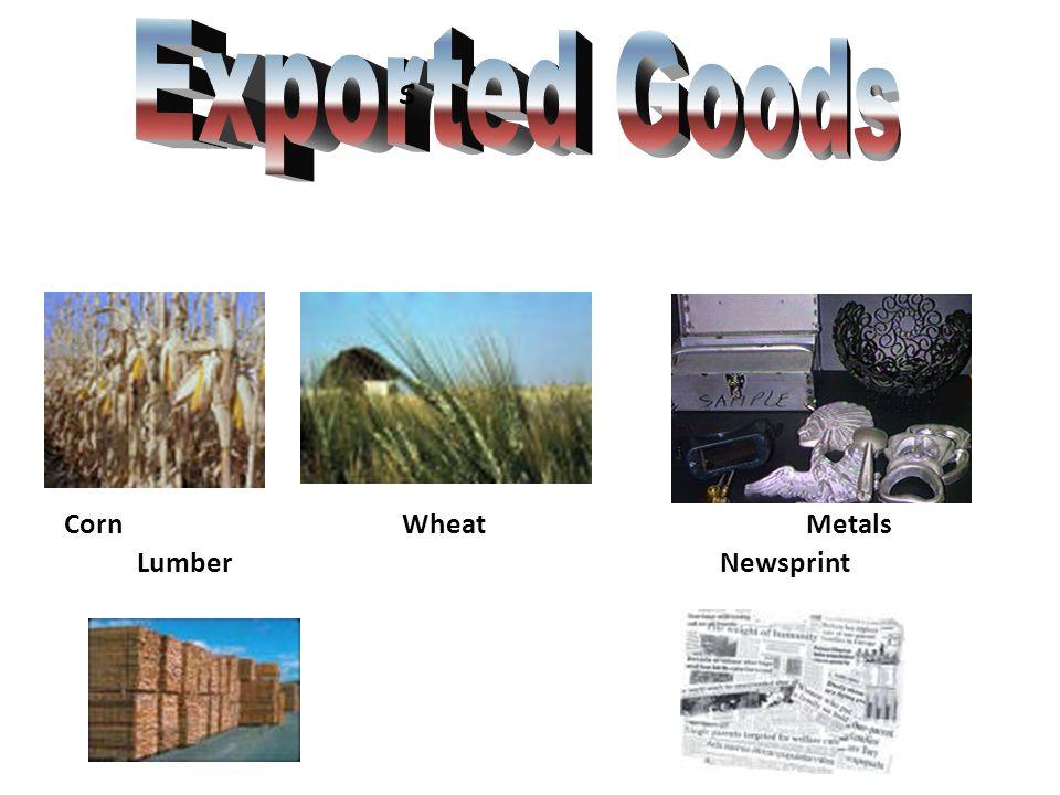 Corn WheatMetals Lumber Newsprint s