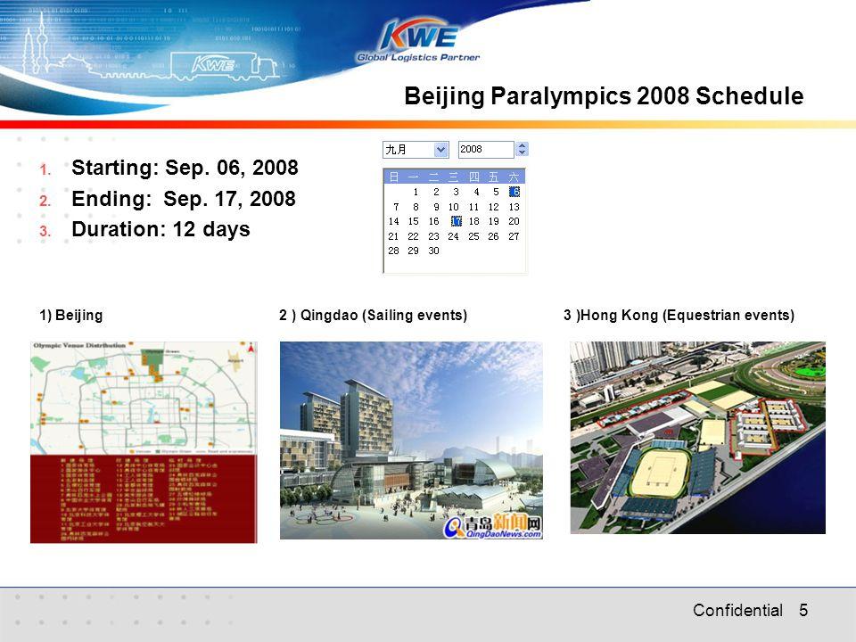 Confidential 5 Beijing Paralympics 2008 Schedule 1.