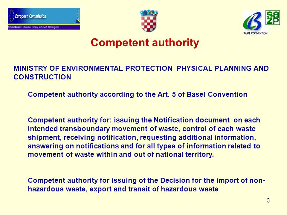 14 Transboundary shipments of waste Financial guarantee   Insurance policy or bank guarantee for the amount necessary to cover the costs of the hazardous waste treatment without posing a risk to the environment   Insurance policy or bank guarantee for the amount necessary to cover the remediation costs in case of an accident