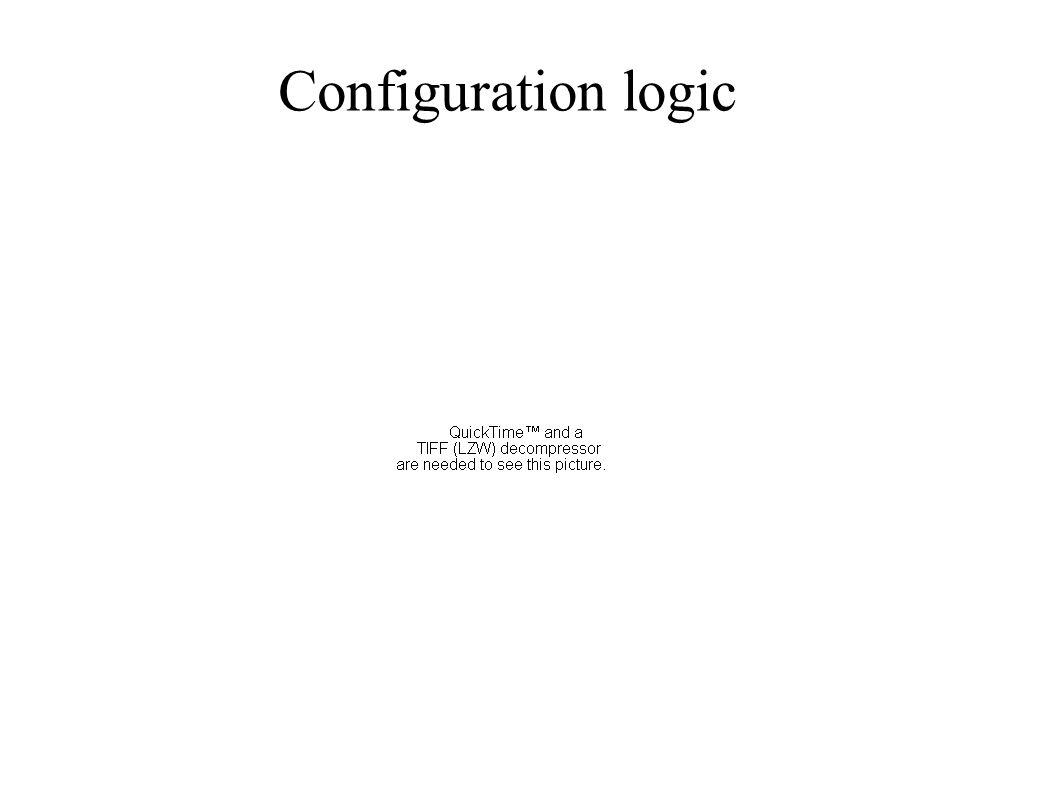 Configuration logic