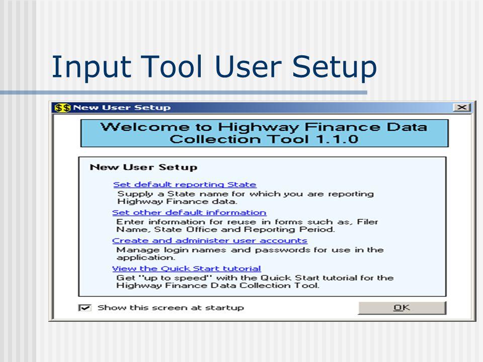 Input Tool User Setup