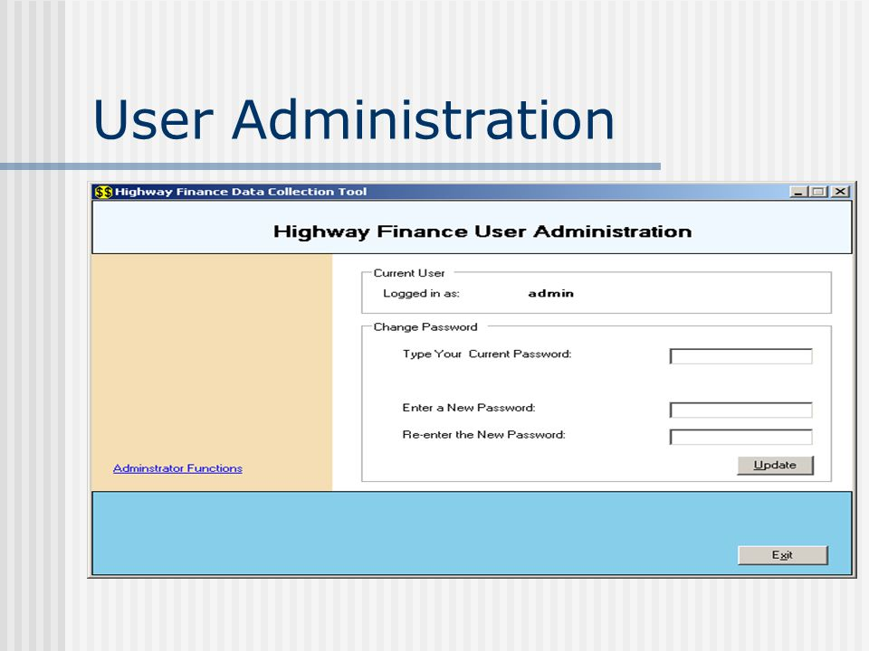 User Administration