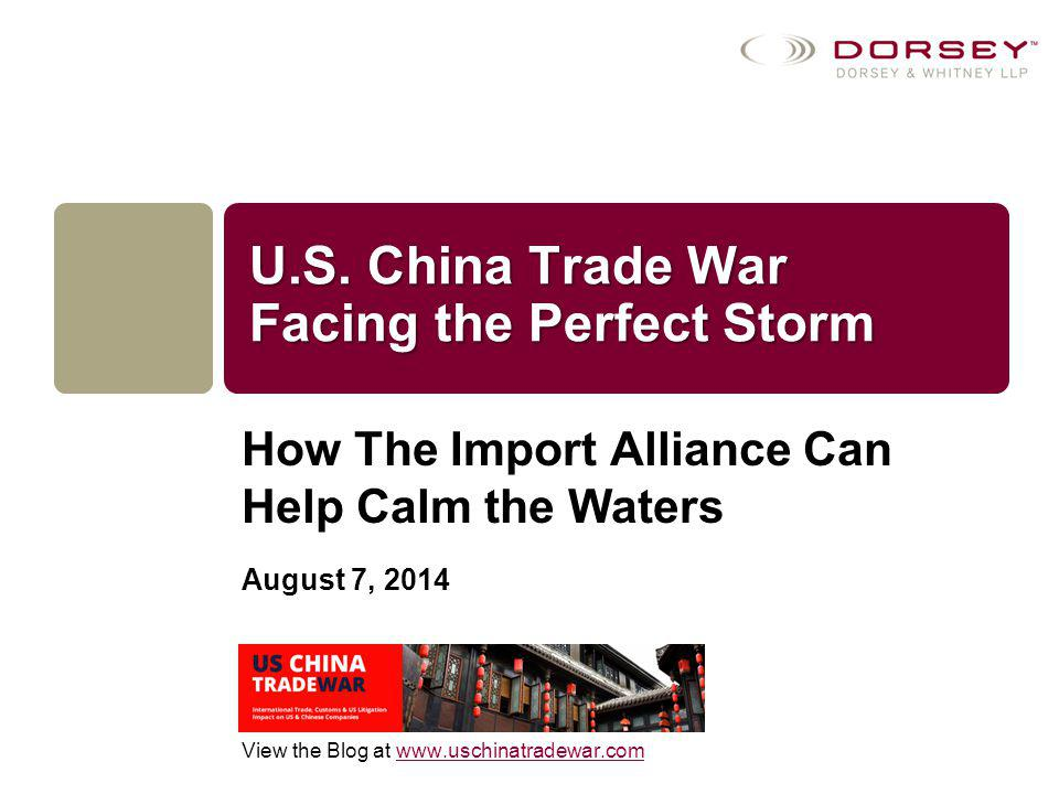 Objectives of the Import Alliance Overall: To educate the U.S.