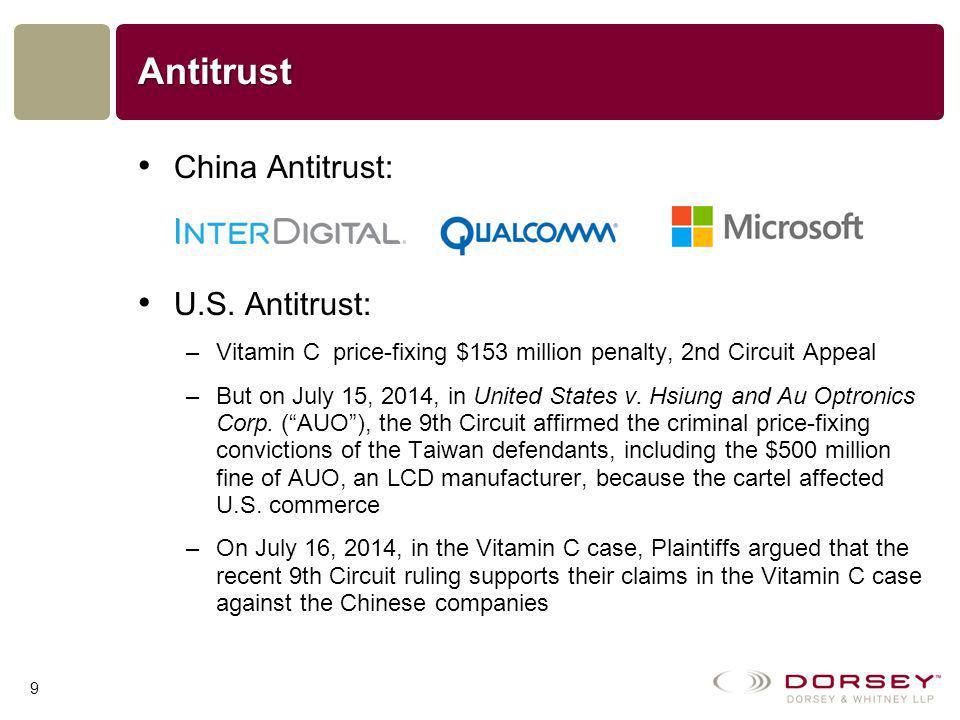 Antitrust China Antitrust: U.S.