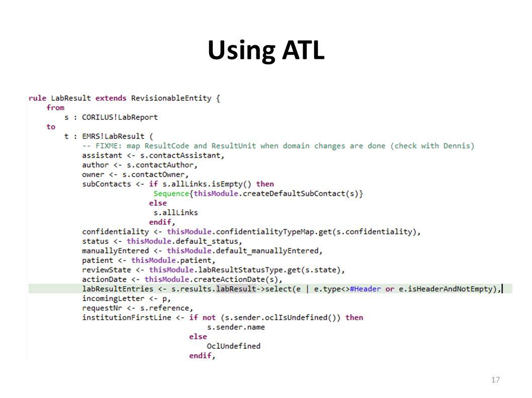 Using ATL 17