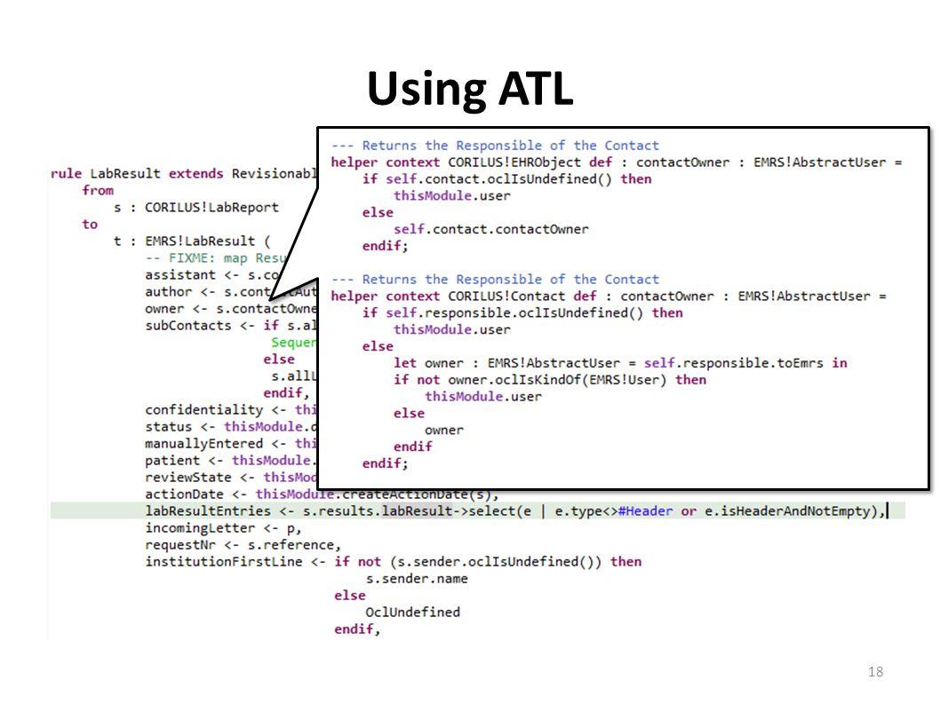 Using ATL 18
