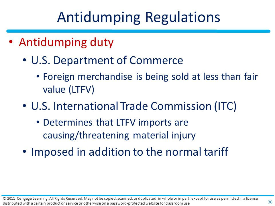 Antidumping Regulations Antidumping duty U.S.