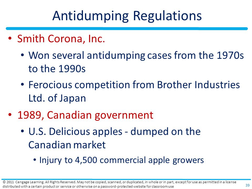 Antidumping Regulations Smith Corona, Inc.