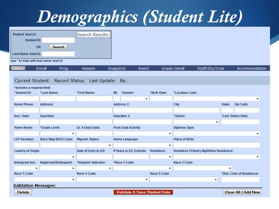 Demographics (Student Lite)
