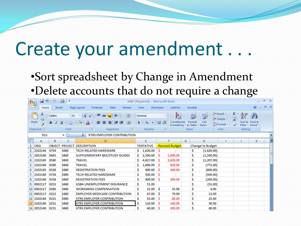 Create your amendment...
