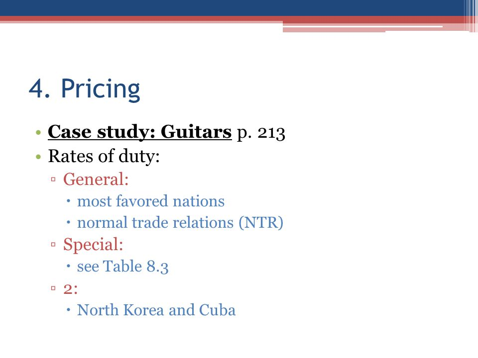 4. Pricing Case study: Guitars p.