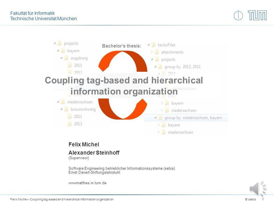 Export - DEMO © sebisFelix Michel – Coupling tag-based and hierarchical information organization11 Änderungen im tacko interface zeigen