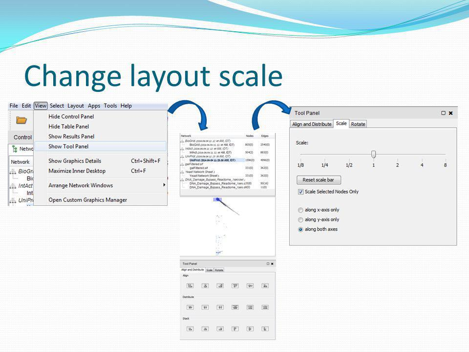 Change layout scale