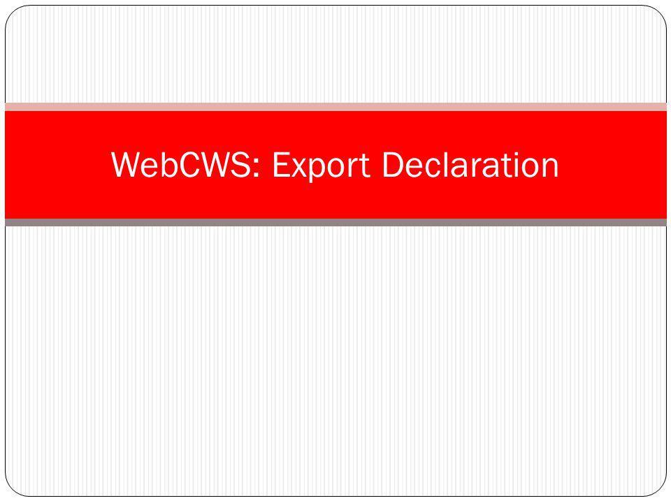 WebCWS: Export Declaration