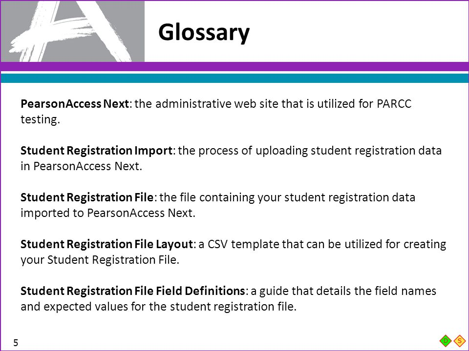 Student Registration File Layout 56 In Column BF, enter Y if the student requires the Assessment Accommodation: Tactile Graphics.