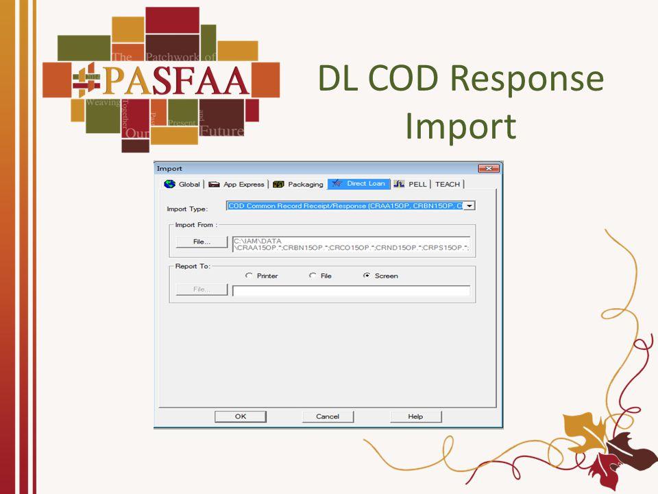DL COD Response Import