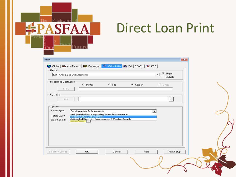 Direct Loan Print