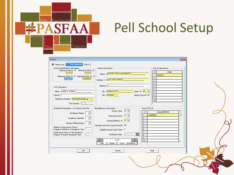 Pell Origination Manual Import ISIR Data Import External Origination Data File