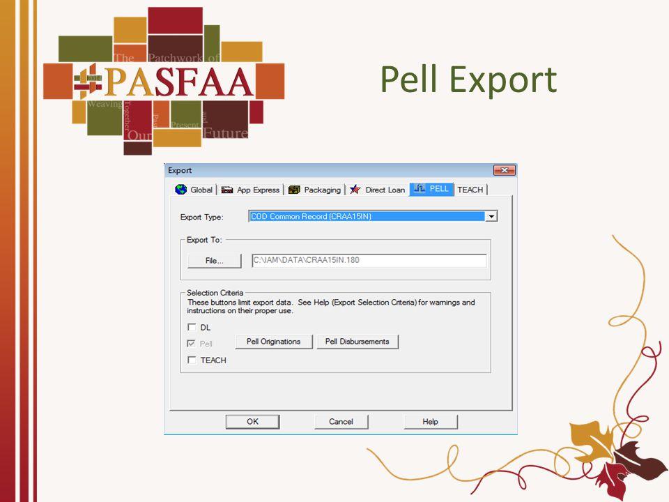Pell COD Response Import