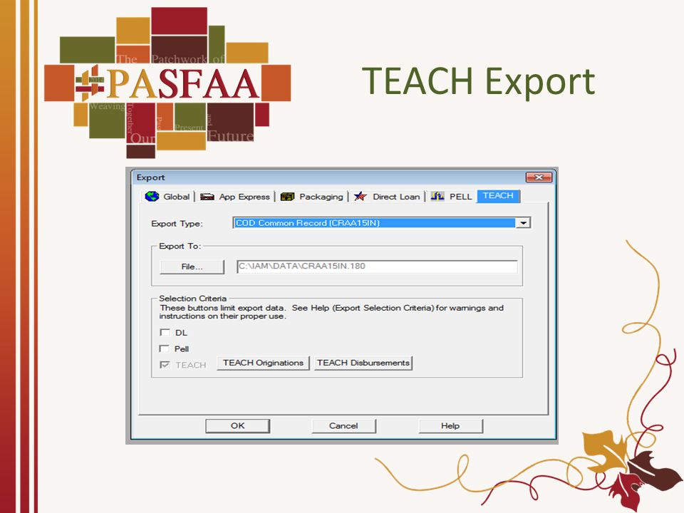 TEACH COD Response Import