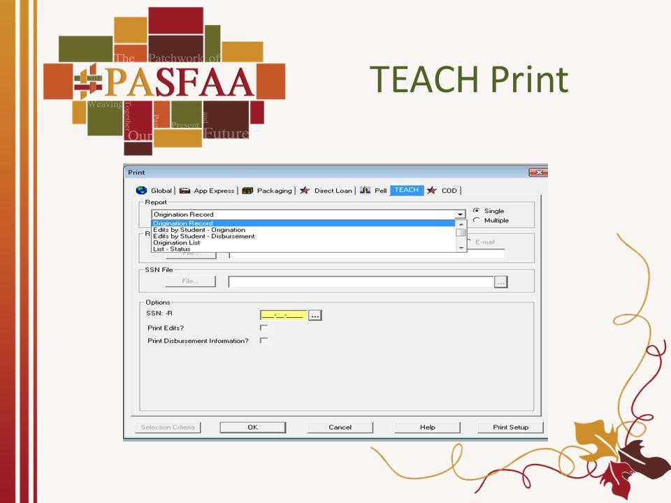 TEACH Print