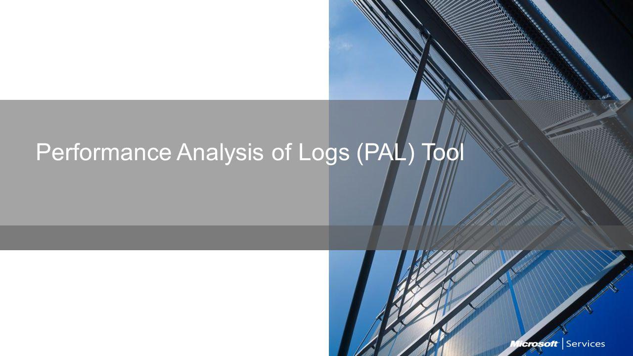 Performance Analysis of Logs (PAL) Tool