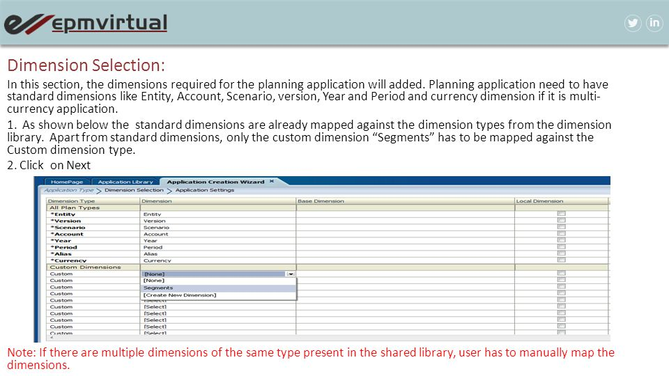 Dimension Selection: In this section, the dimensions required for the planning application will added. Planning application need to have standard dime