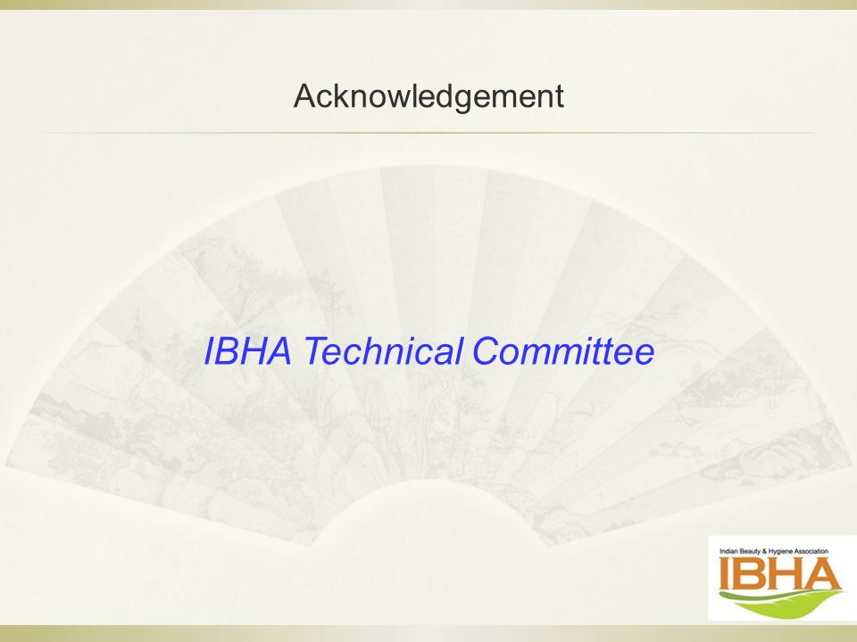 IBHA Technical Committee Acknowledgement