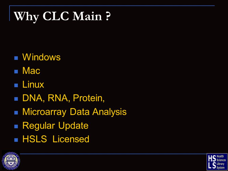 Why CLC Main .