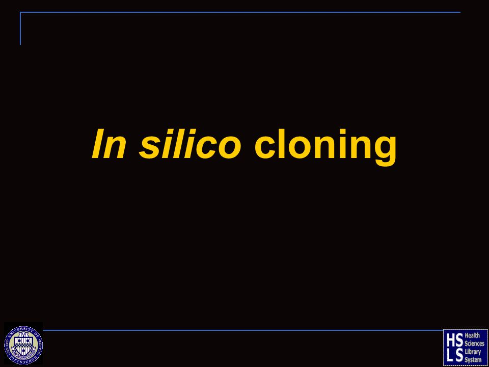 In silico cloning
