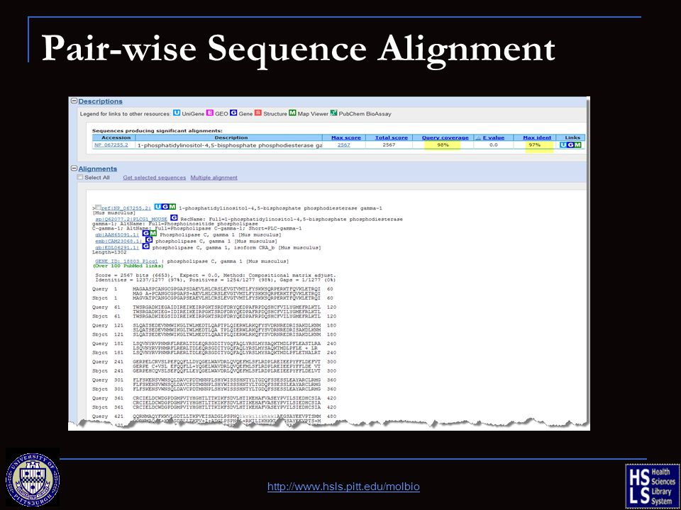 Pair-wise Sequence Alignment http://www.hsls.pitt.edu/molbio