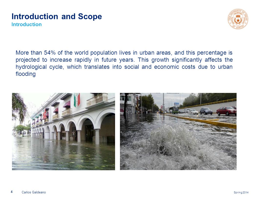 Spring 2014 More than 54% of the world population lives in urban areas, and this percentage is projected to increase rapidly in future years. This gro