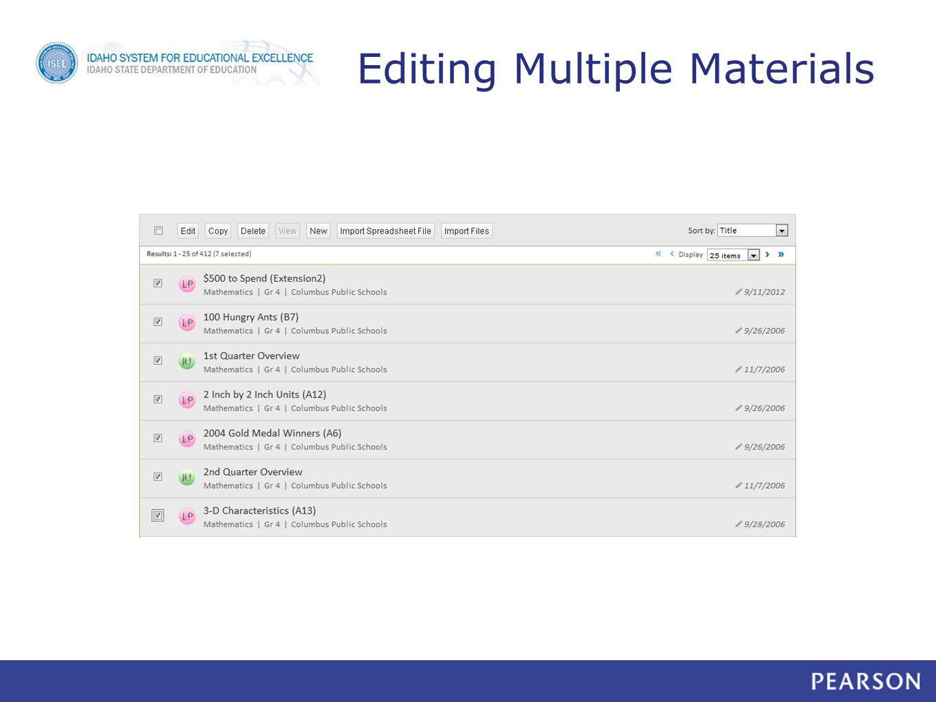 Editing Multiple Materials