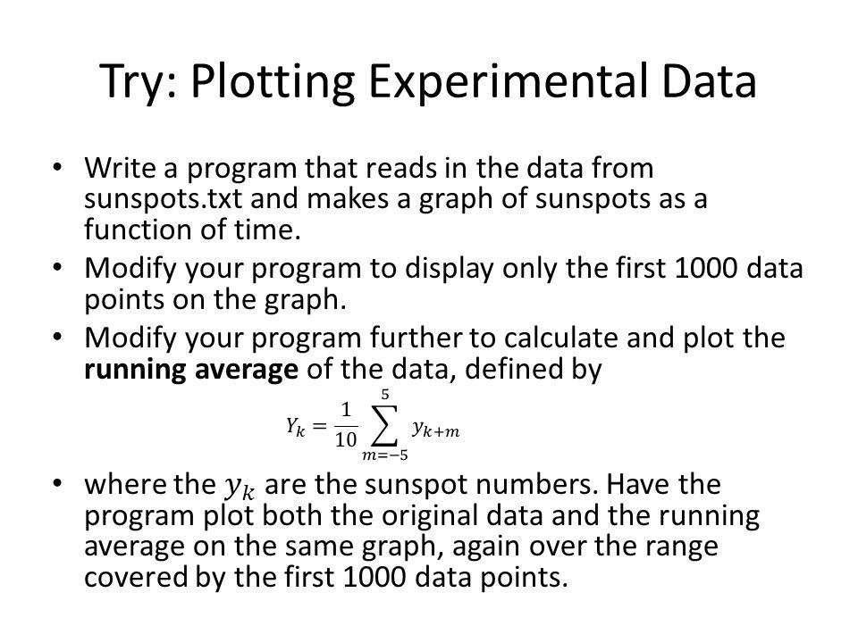 Try: Plotting Experimental Data