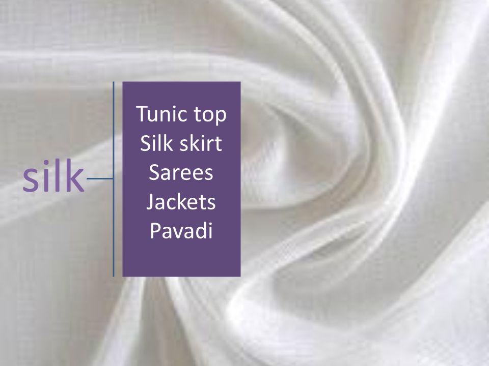 silk Tunic top Silk skirt Sarees Jackets Pavadi
