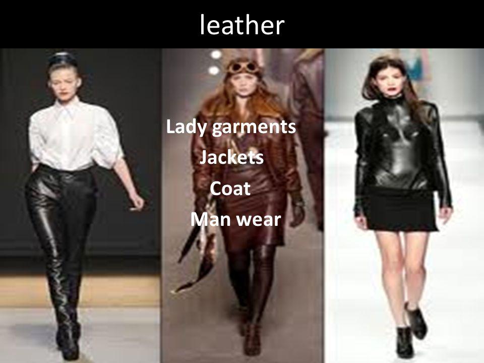 leather Lady garments Jackets Coat Man wear