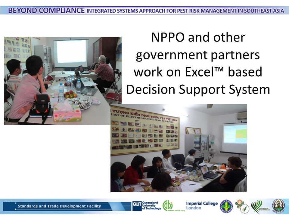 NPPO and other government partners work on Excel™ based Decision Support System