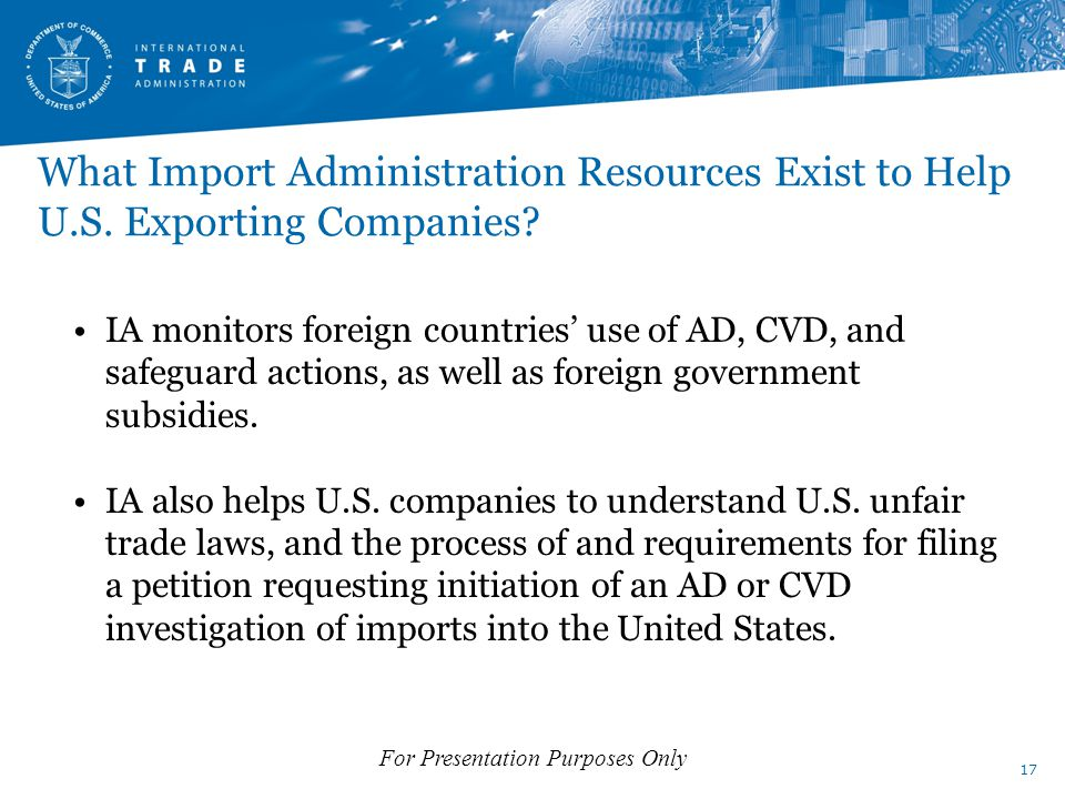 What Import Administration Resources Exist to Help U.S.