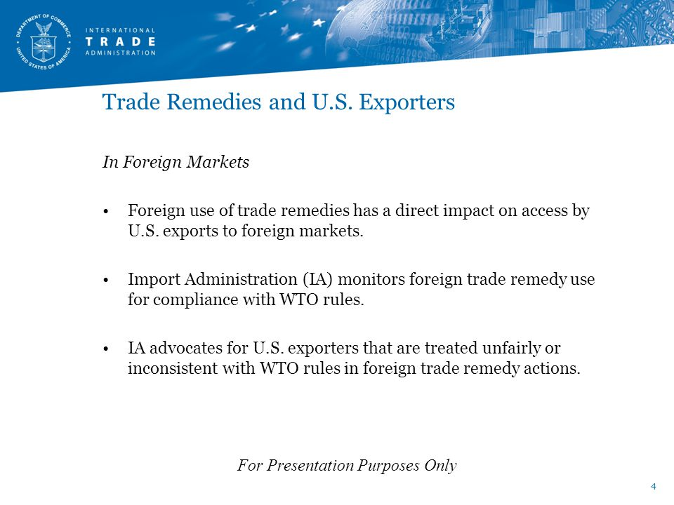 Trade Remedies and U.S.