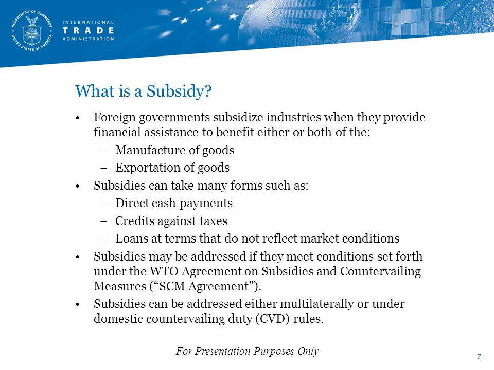 What is a Subsidy.