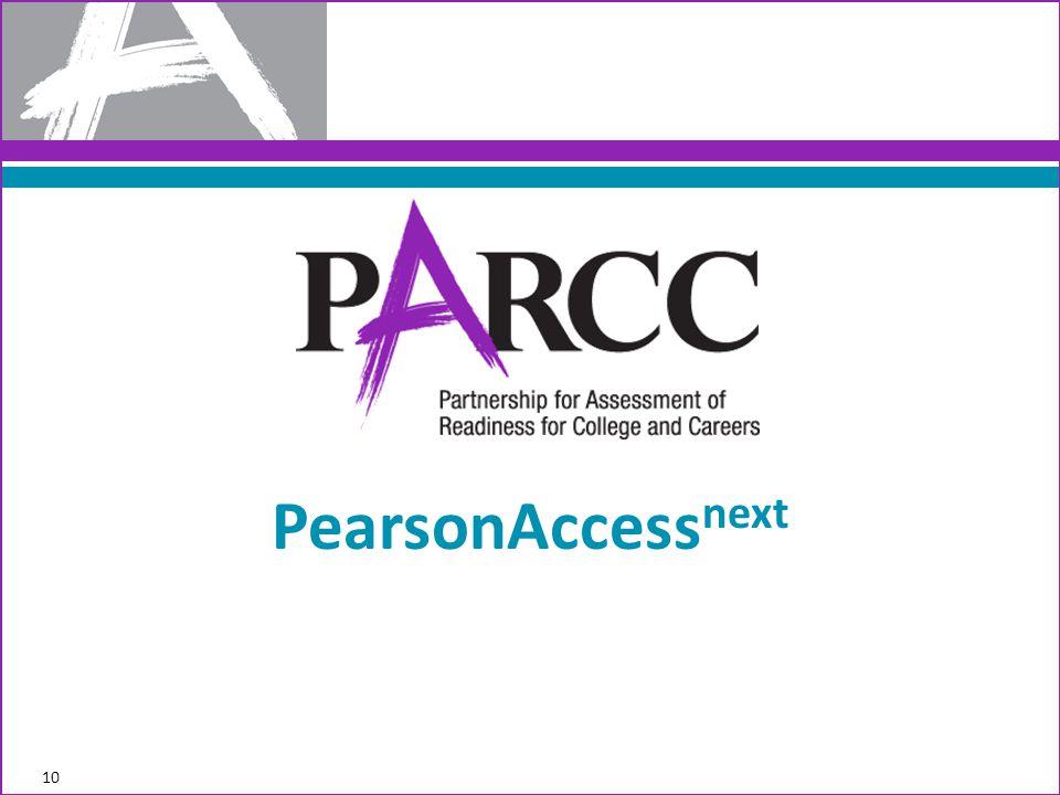 10 PearsonAccess next