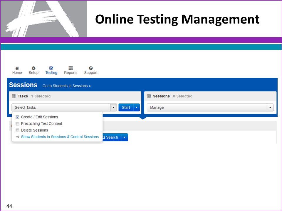 Online Testing Management 44