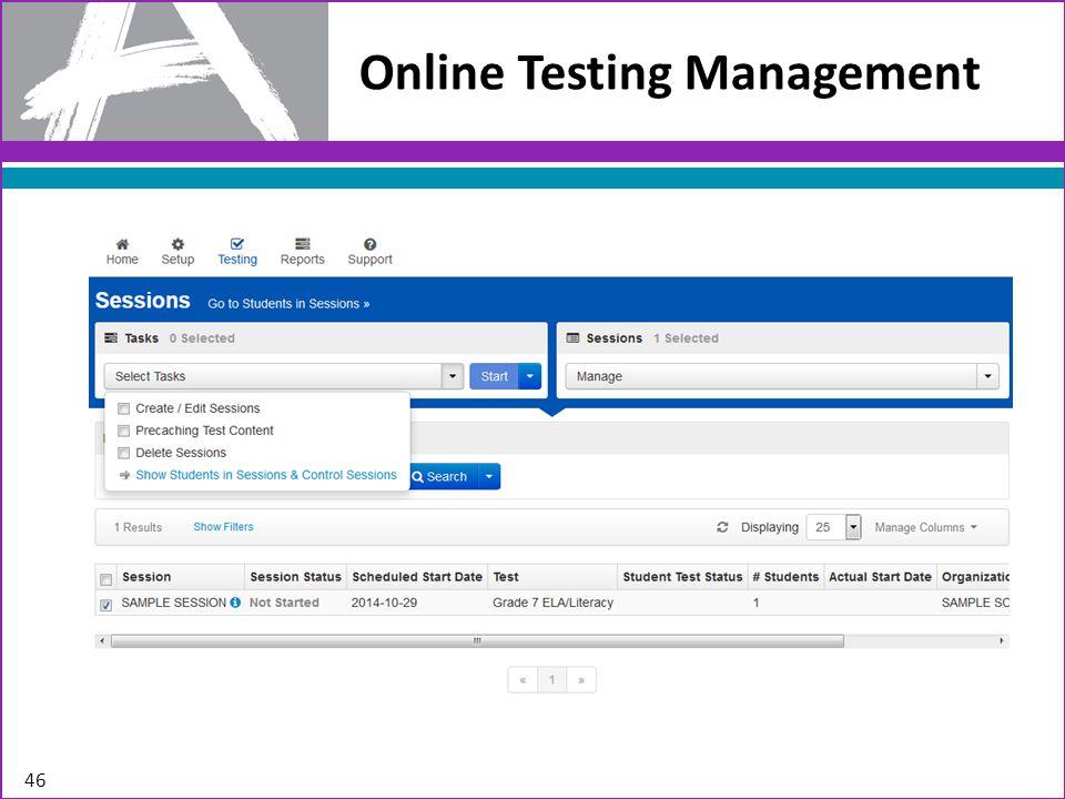 Online Testing Management 46