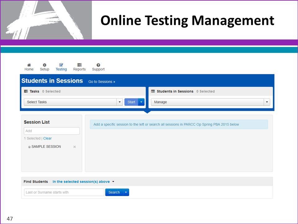 Online Testing Management 47