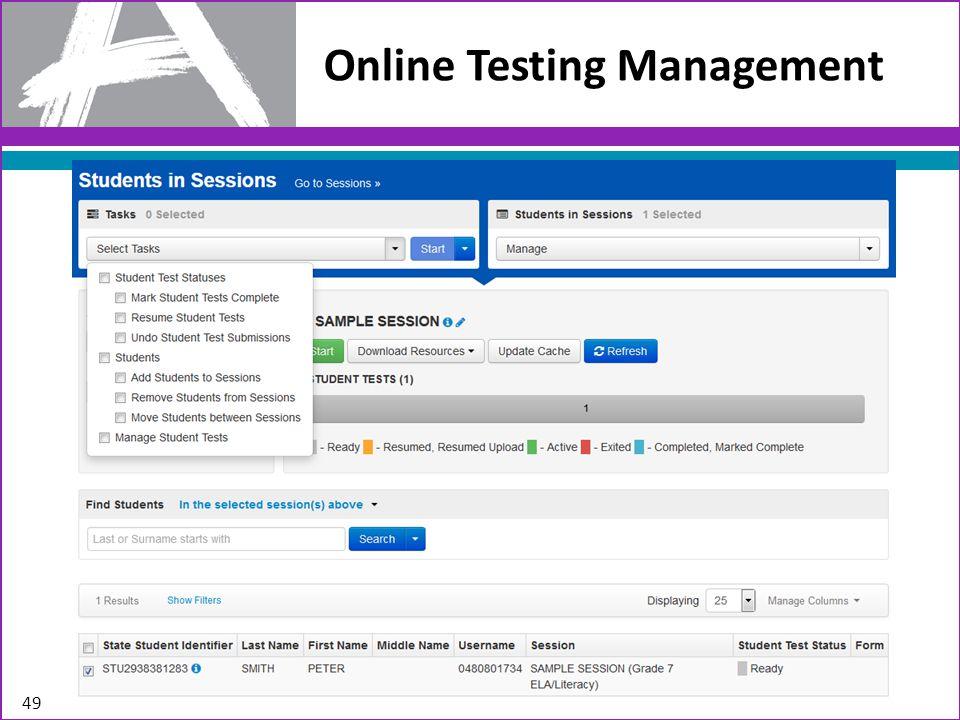 Online Testing Management 49