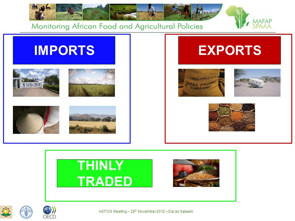 ASTWG Meeting – 28 th November 2012 – Dar es Salaam IMPORTS EXPORTS THINLY TRADED