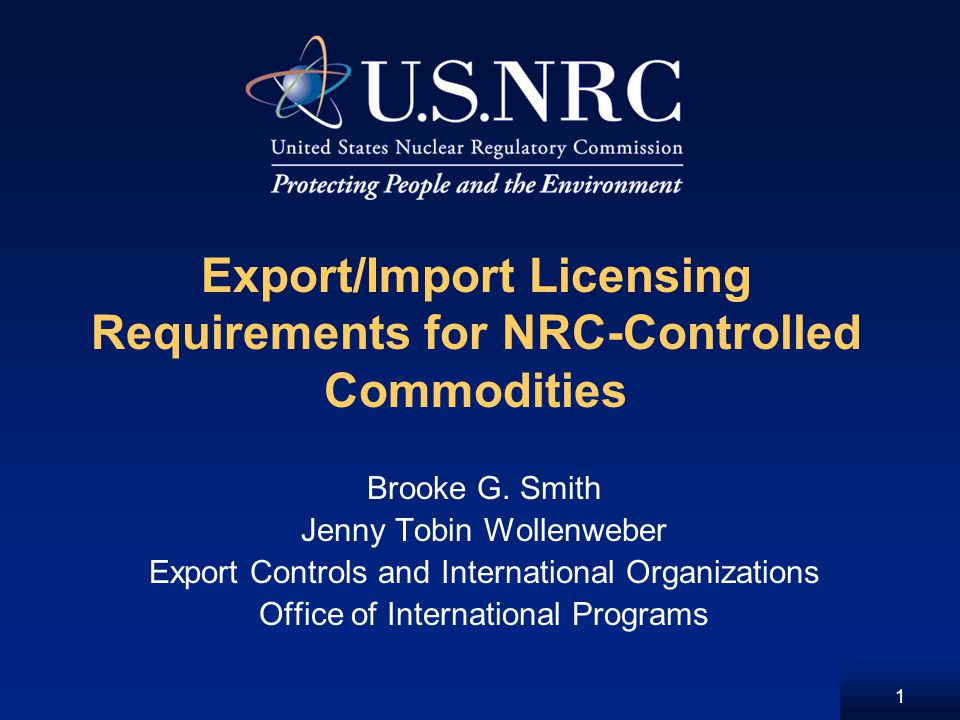 Overview Scope of NRC import/export authority General licensing Specific licensing Nuclear exports and imports Radioactive source exports and imports Waste exports and imports 2