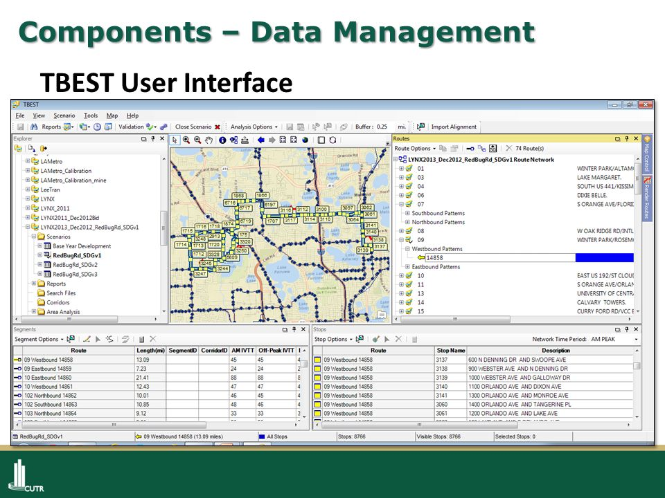 Components – Data Management TBEST User Interface